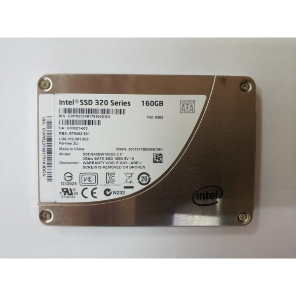 "Жесткий диск SSD Intel 320 Series SSDSA2BW160G3 160gb 2.5"" SATA"
