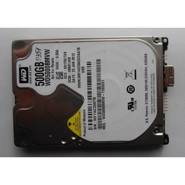 "Жесткий диск WD5000BMVW-11S5XS1 500gb HBMTJHB 2.5"" 23JAN2013 USB 3.0"