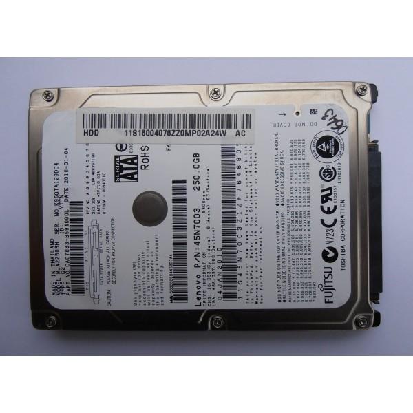 "Жесткий диск FUJITSU MJA2250BH G2 CA07083-B594000L 0084001C 2.5"" 2010-01-04 SATA"