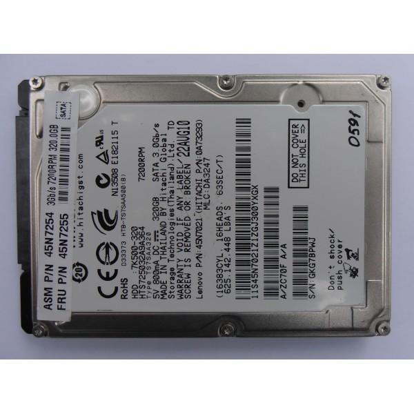 """Жесткий диск Hitachi HTS725032A9A364 22AUG10 0A73293 SATA 2.5"""" 320gb"""
