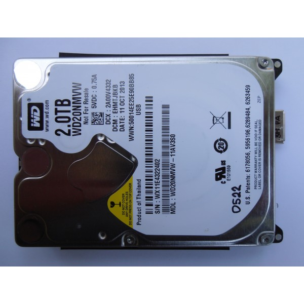 "Жесткий диск WD20NMVW-11AV3S0 2Tb EHMTJBKB 2.5"" 11OCT2013 USB 3.0"